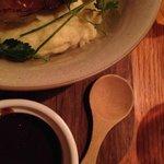 Lamb shank, mash and red wine glaze