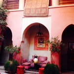 The courtyard in riad bahja