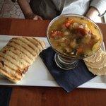 Soup (fantastic!) & 1/2 Sandwich.