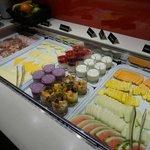 Das Frühstücksbuffet: Kleine Auswahl, aber gute Qualität