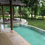 tropical pool in our villa