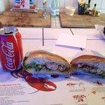 Lobster hamburger.