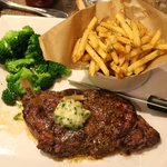 Rib Eye Steak Plate with Truffle Fries