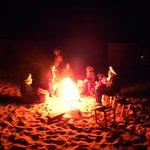 Fuego en el campamento.