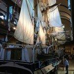 The Lagoda, half-scale model of a sailing whaler