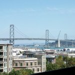 View of the Bay Bridge from our left field seats