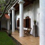 The colonnaded veranda