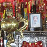 one of the many smaller altars, this one dedicated to Ho Chi Minh
