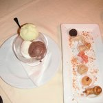 Moroccan pastries and ice cream