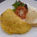 Ham, Cheese and Tomato Omelet