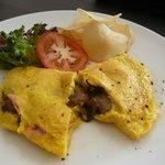 Three Eggs Mushroom Omelet