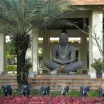 Welcoming Buddha at entrance to resort