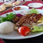 Super tender chicken shish kebab