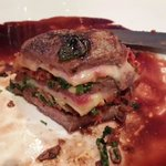 Fillet with bacon, parmesan and basilica