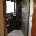 Stone waterfall shower