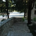 Stone steps to rooms