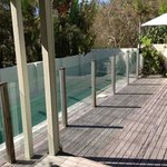 lovely cool pool and deck at front of Cape Beach
