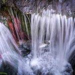 Mini waterfall on the Fairmont grounds.