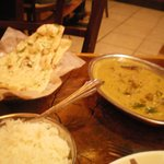 Goat curry Malabar Adu and garlic naan
