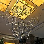 Lobby centre piece, fresh blossom branches.