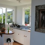 The bright and open kitchen