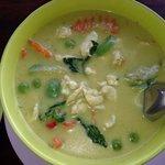 Green chicken curry. Very tasty!