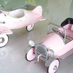 Cute children's plane/car - all pink