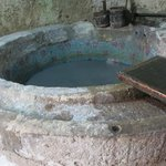 the vat of blue goo used for the papermaking demonstration