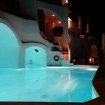 pretty pool at night