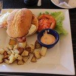 Egg Sandwich with breakfast potatoes