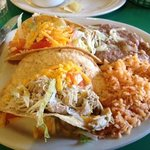 Crispy Taco Plate - delicious, generous portion.