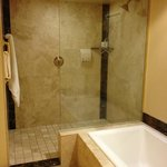 Roomy bath w/ tub & large walk-in shower