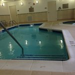 Indoor pool, very small but warm