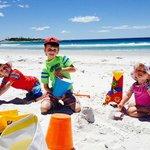 Our Grandchildren enjoying Redbill Beach, less than 5 mins walk away.