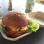 One of the best veggie burgers I've EVER had! Amazing! Down to earth burger.