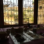 Having breakfast with a view of the terrace and the rooftops of Fes