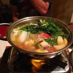 Seafood hot pot for 1