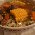 Cocido de rez - clear beef soup