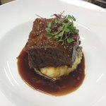 Beef Short Rib with Heirloom Carrots, Truffle Mash.
