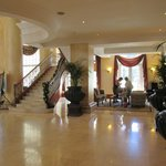 The beautiful and inviting hotel lobby