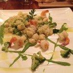 Gnocchi with prawns and broccoli