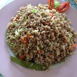 fried rice & vegetables