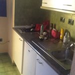 Lovely clean kitchenette with fridge and microwave