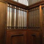 Beautiful ornate old lift / elevator - super fast & very safe