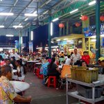 Typical food court found in Malaysia