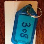 Schlüssel mussten bei Verlassen des Hotels an der Rezeption abgegeben werden