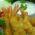 Deep Fried Breaded prawn ,Tar tar sauce