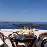 Beautiful private terrace where we eat breakfast