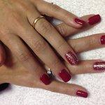 Rèfill in gel colore Rosso Valentino.