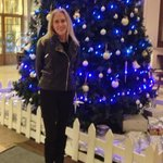 In front of the Christmas tree in the lobby before a concert at NEC!